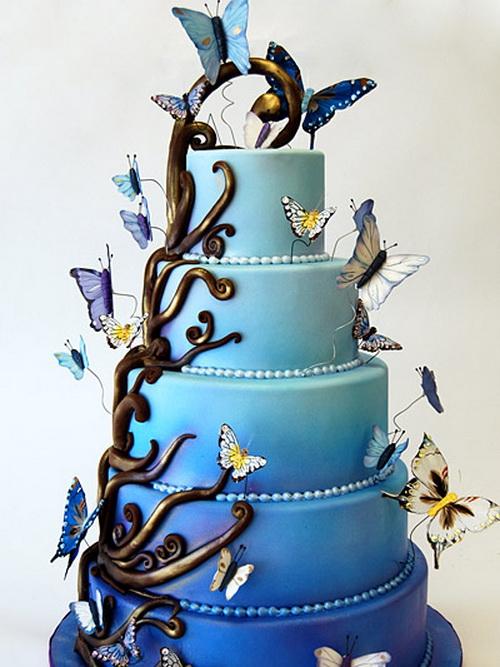 Modré torty inšpirácie - Obrázok č. 1