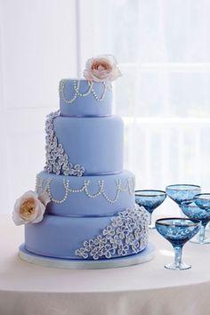 Modré torty inšpirácie - Obrázok č. 2