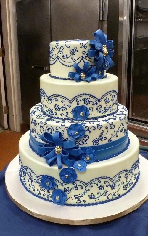 Modré torty inšpirácie - Obrázok č. 3
