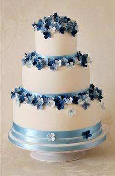 Modré torty inšpirácie - Obrázok č. 4