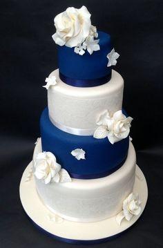 Modré torty inšpirácie - Obrázok č. 5