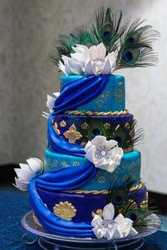 Modré torty inšpirácie - Obrázok č. 6
