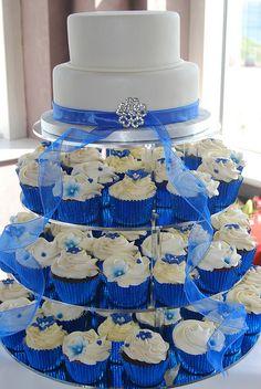 Modré torty inšpirácie - Obrázok č. 8