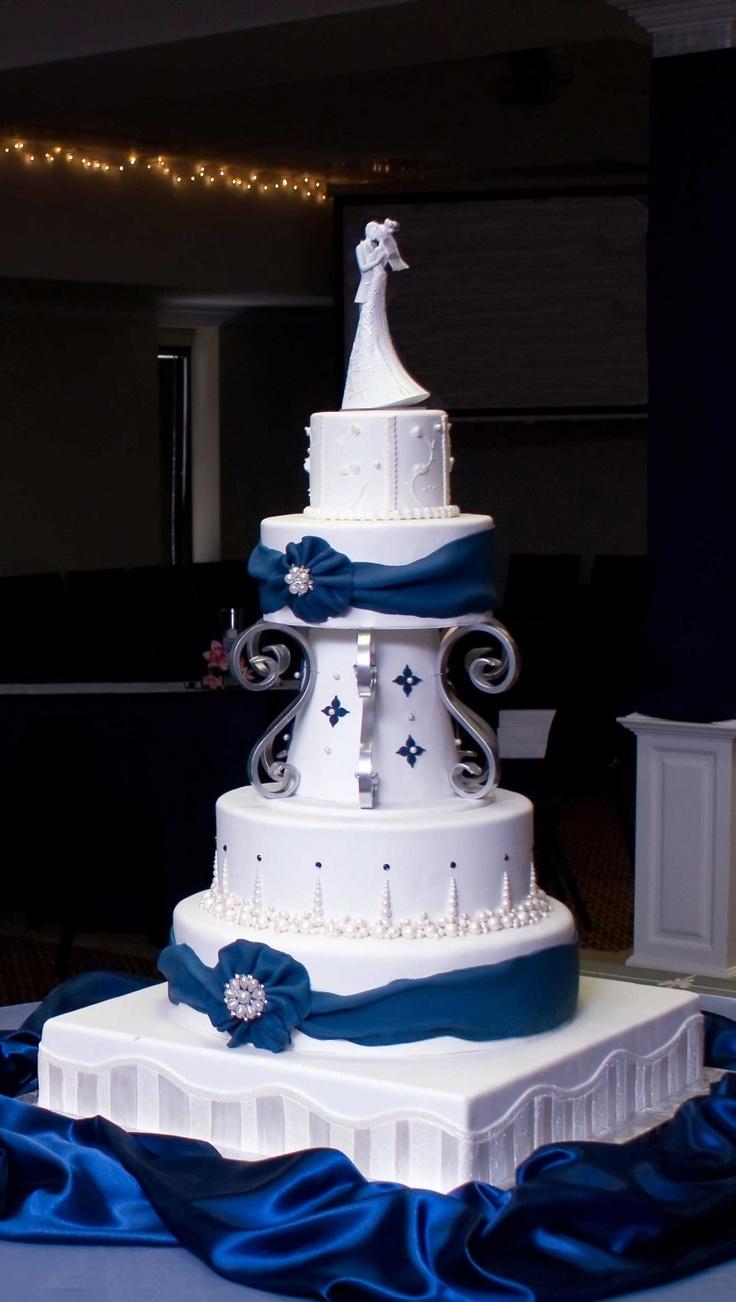 Modré torty inšpirácie - Obrázok č. 13