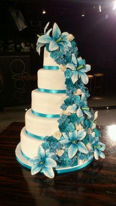 Modré torty inšpirácie - Obrázok č. 15