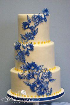 Modré torty inšpirácie - Obrázok č. 22