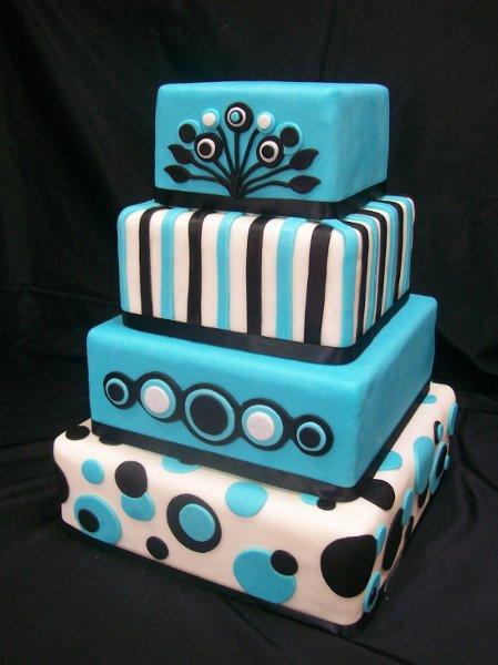Modré torty inšpirácie - Obrázok č. 25