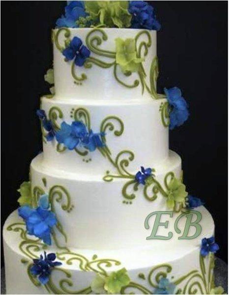 Modré torty inšpirácie - Obrázok č. 26