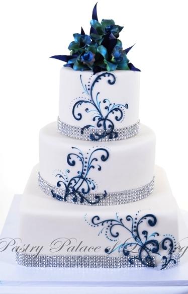 Modré torty inšpirácie - Obrázok č. 28