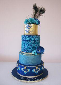 Modré torty inšpirácie - Obrázok č. 32
