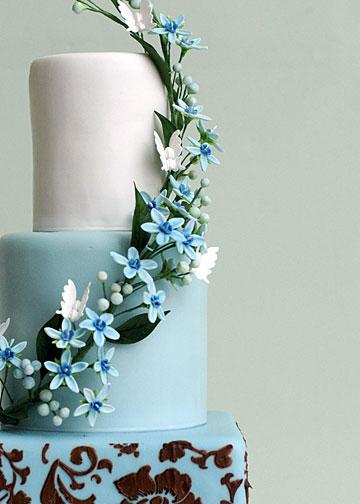 Modré torty inšpirácie - Obrázok č. 34