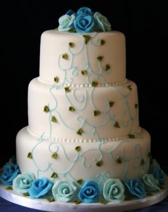 Modré torty inšpirácie - Obrázok č. 35