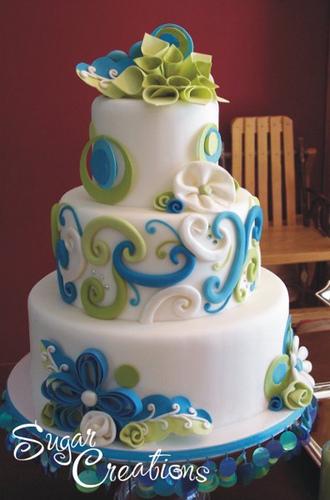 Modré torty inšpirácie - Obrázok č. 38