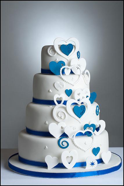 Modré torty inšpirácie - Obrázok č. 40
