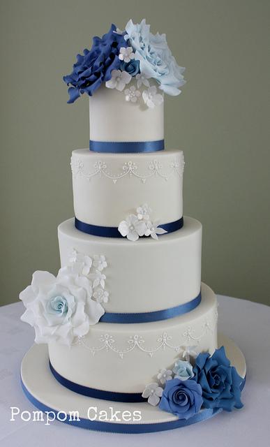 Modré torty inšpirácie - Obrázok č. 41