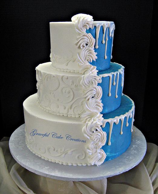 Modré torty inšpirácie - Obrázok č. 42