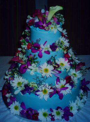 Modré torty inšpirácie - Obrázok č. 44