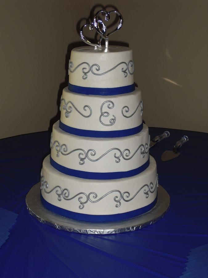 Modré torty inšpirácie - Obrázok č. 47