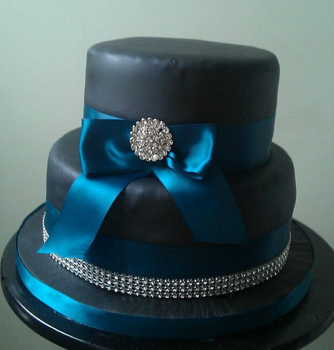 Modré torty inšpirácie - Obrázok č. 53