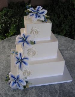 Modré torty inšpirácie - Obrázok č. 54