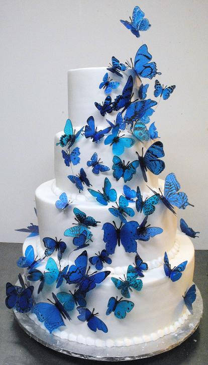 Modré torty inšpirácie - Obrázok č. 55