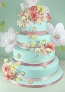 Modré torty inšpirácie - Obrázok č. 57