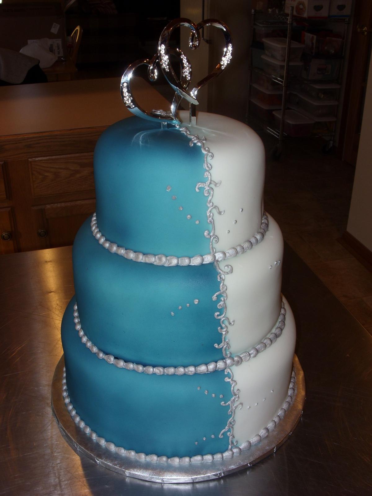 Modré torty inšpirácie - Obrázok č. 60