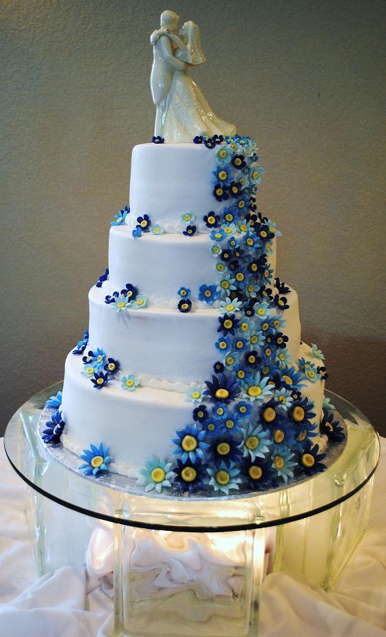 Modré torty inšpirácie - Obrázok č. 65