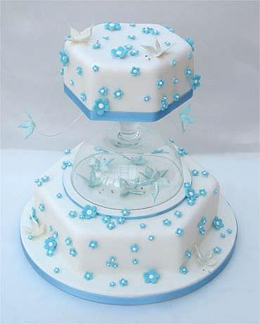 Modré torty inšpirácie - Obrázok č. 66