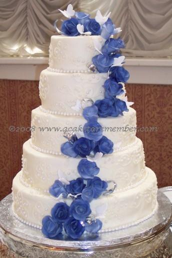 Modré torty inšpirácie - Obrázok č. 67