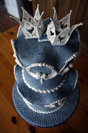 Modré torty inšpirácie - Obrázok č. 69