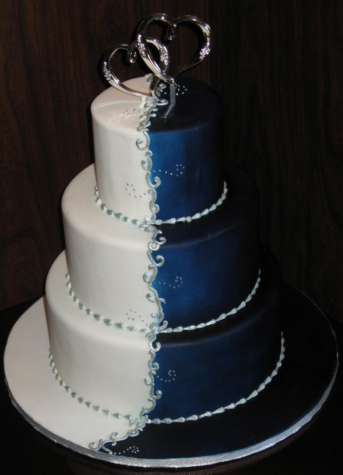 Modré torty inšpirácie - Obrázok č. 70