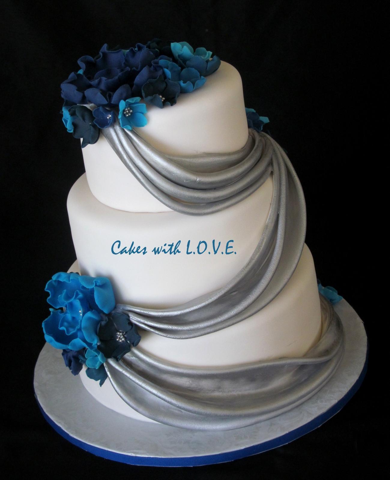 Modré torty inšpirácie - Obrázok č. 74