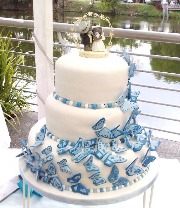 Modré torty inšpirácie - Obrázok č. 80
