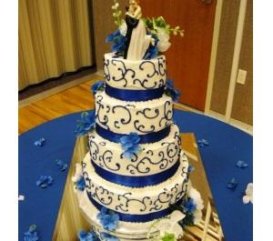 Modré torty inšpirácie - Obrázok č. 82