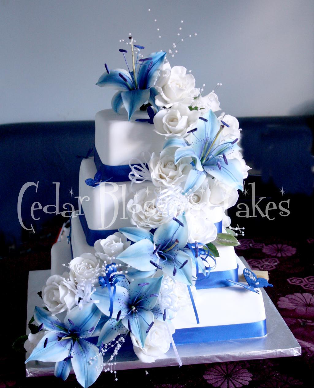 Modré torty inšpirácie - Obrázok č. 85