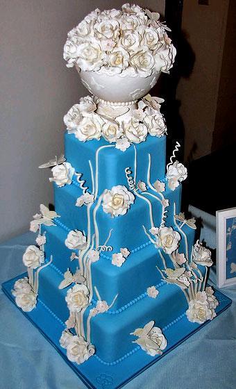 Modré torty inšpirácie - Obrázok č. 91