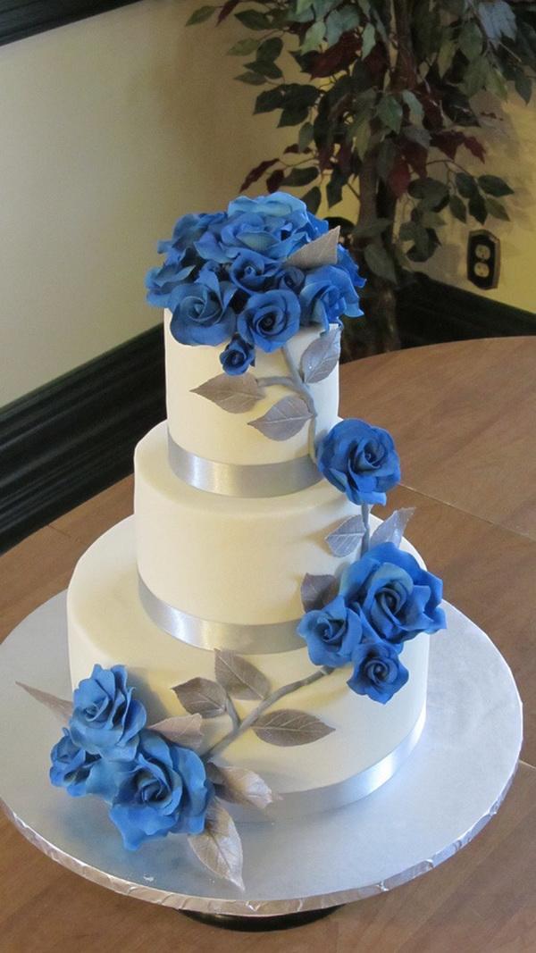 Modré torty inšpirácie - Obrázok č. 94