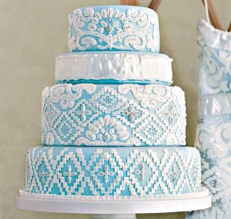 Modré torty inšpirácie - Obrázok č. 96