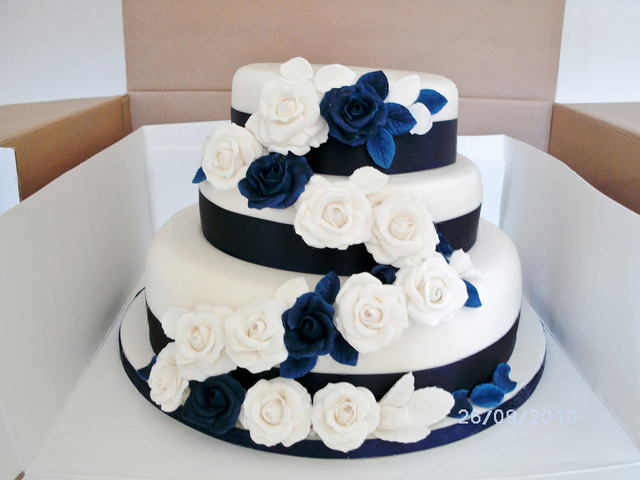 Modré torty inšpirácie - Obrázok č. 146