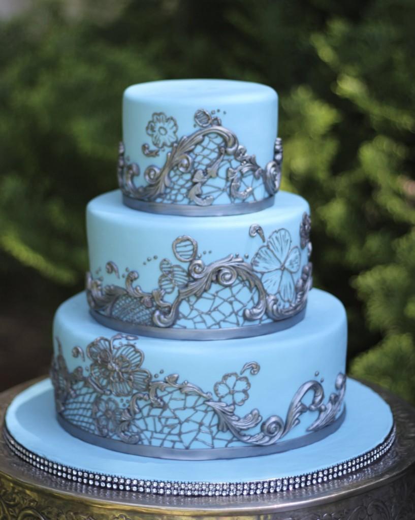 Modré torty inšpirácie - Obrázok č. 148
