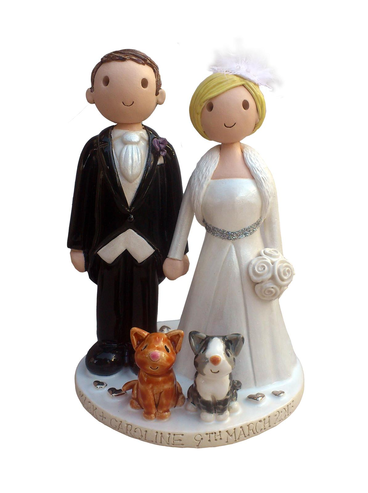 Figúrky na svadobnú tortu - Obrázok č. 44