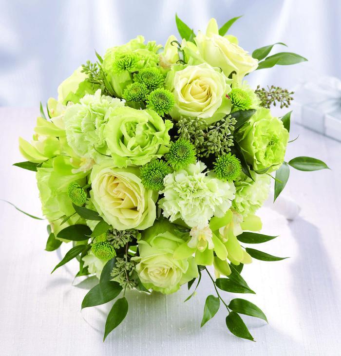 Zelené kytice inšpirácie - Obrázok č. 14