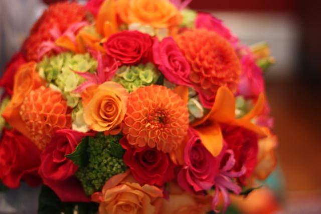 Oranžové kytice inšpirácie - Obrázok č. 2