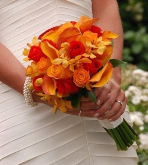 Oranžové kytice inšpirácie - Obrázok č. 10