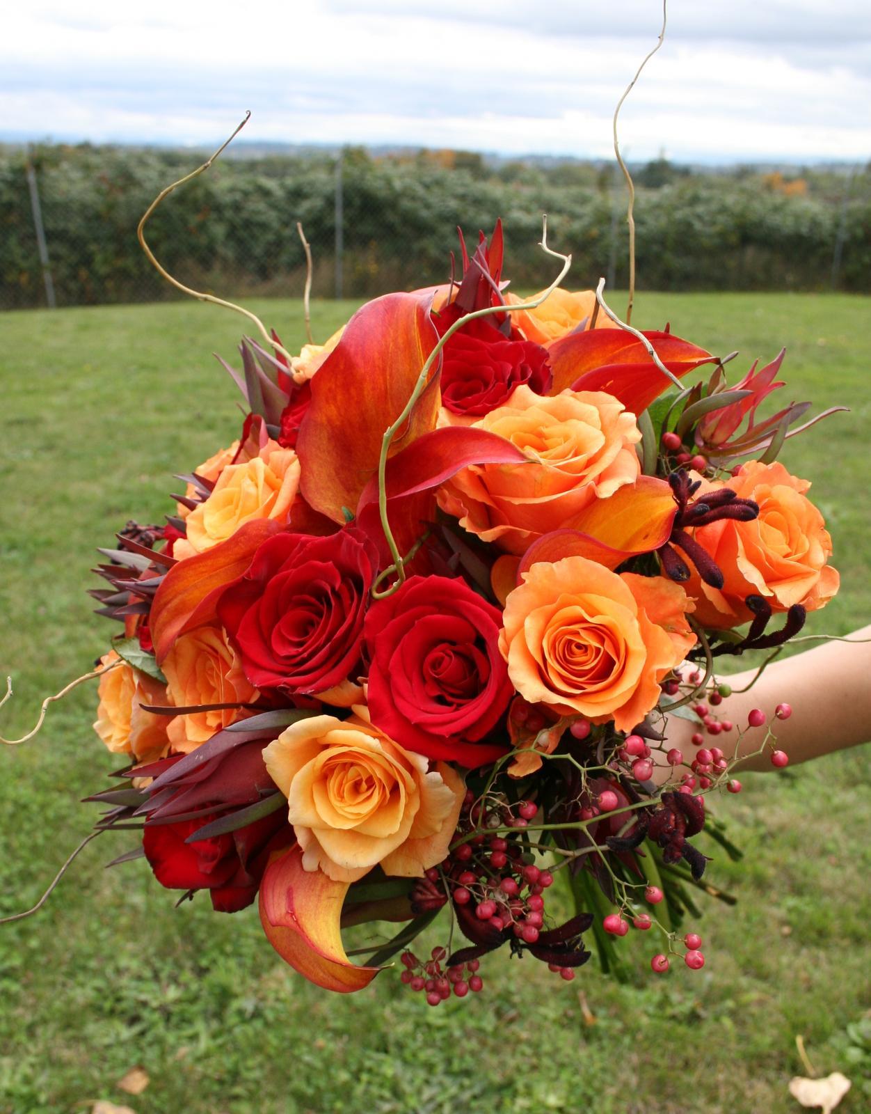 Oranžové kytice inšpirácie - Obrázok č. 20