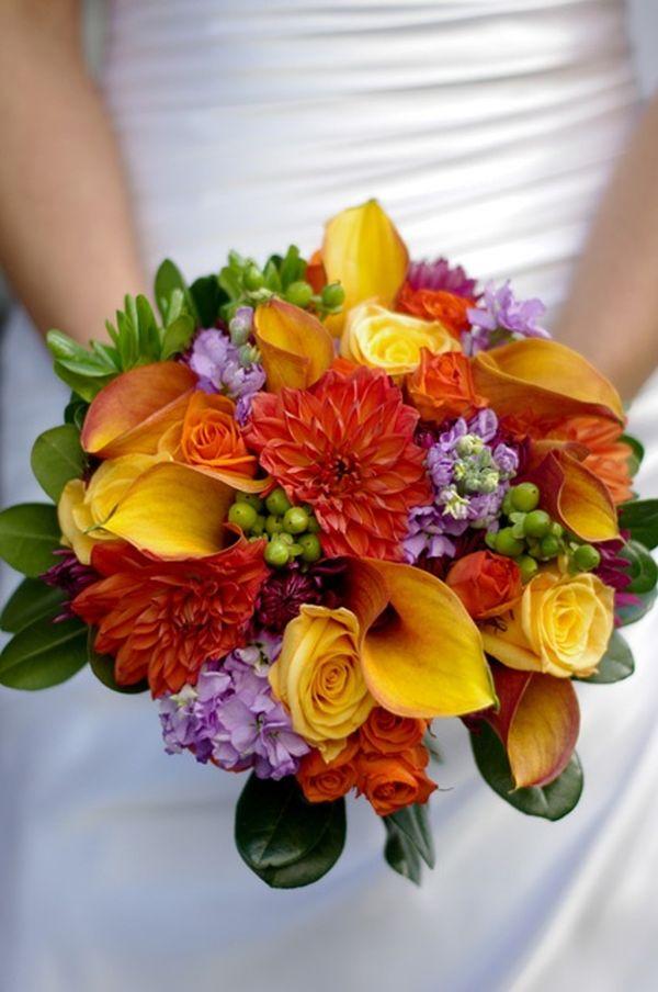 Oranžové kytice inšpirácie - Obrázok č. 22