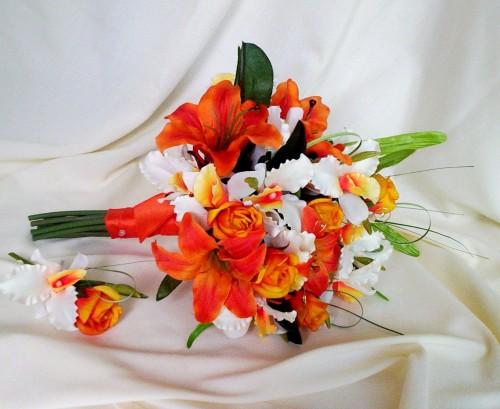 Oranžové kytice inšpirácie - Obrázok č. 23