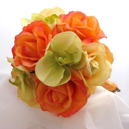 Oranžové kytice inšpirácie - Obrázok č. 36