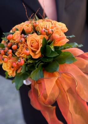 Oranžové kytice inšpirácie - Obrázok č. 39